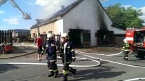 Požár domu Zárybnických, foto: VCH