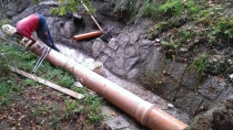 Oprava hráze po povodních, foto: VCH